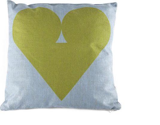 Vulling Voor Kussens : Kussen hart inclusief polyester vulling groen fest amsterdam lil